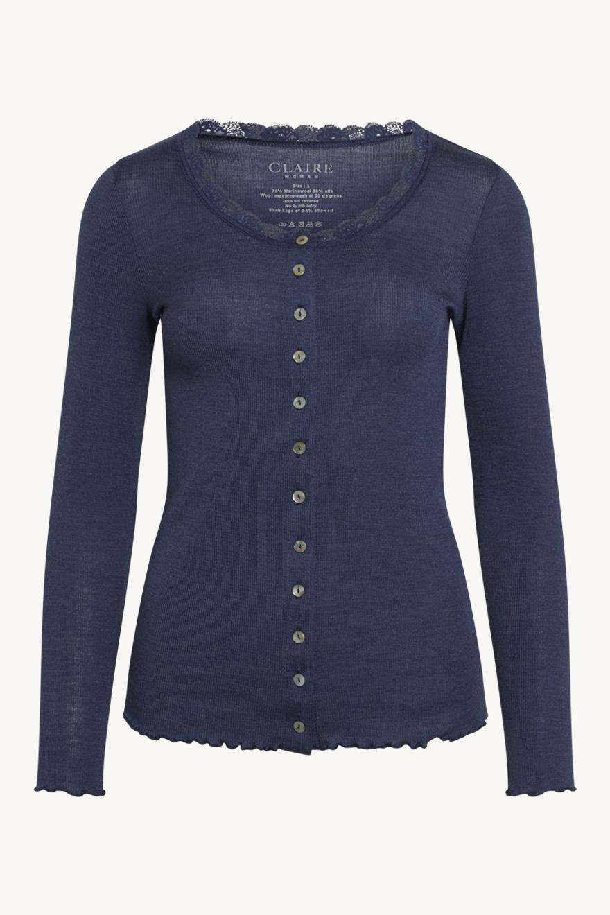 Claire female wool - Cardigan, uld/silke